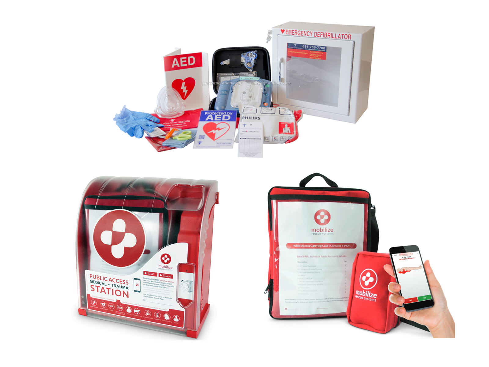 The Janz Corporation Partners with Mobilize Rescue Systems to Increase Medical Emergency Response Capabilities Alongside AEDs