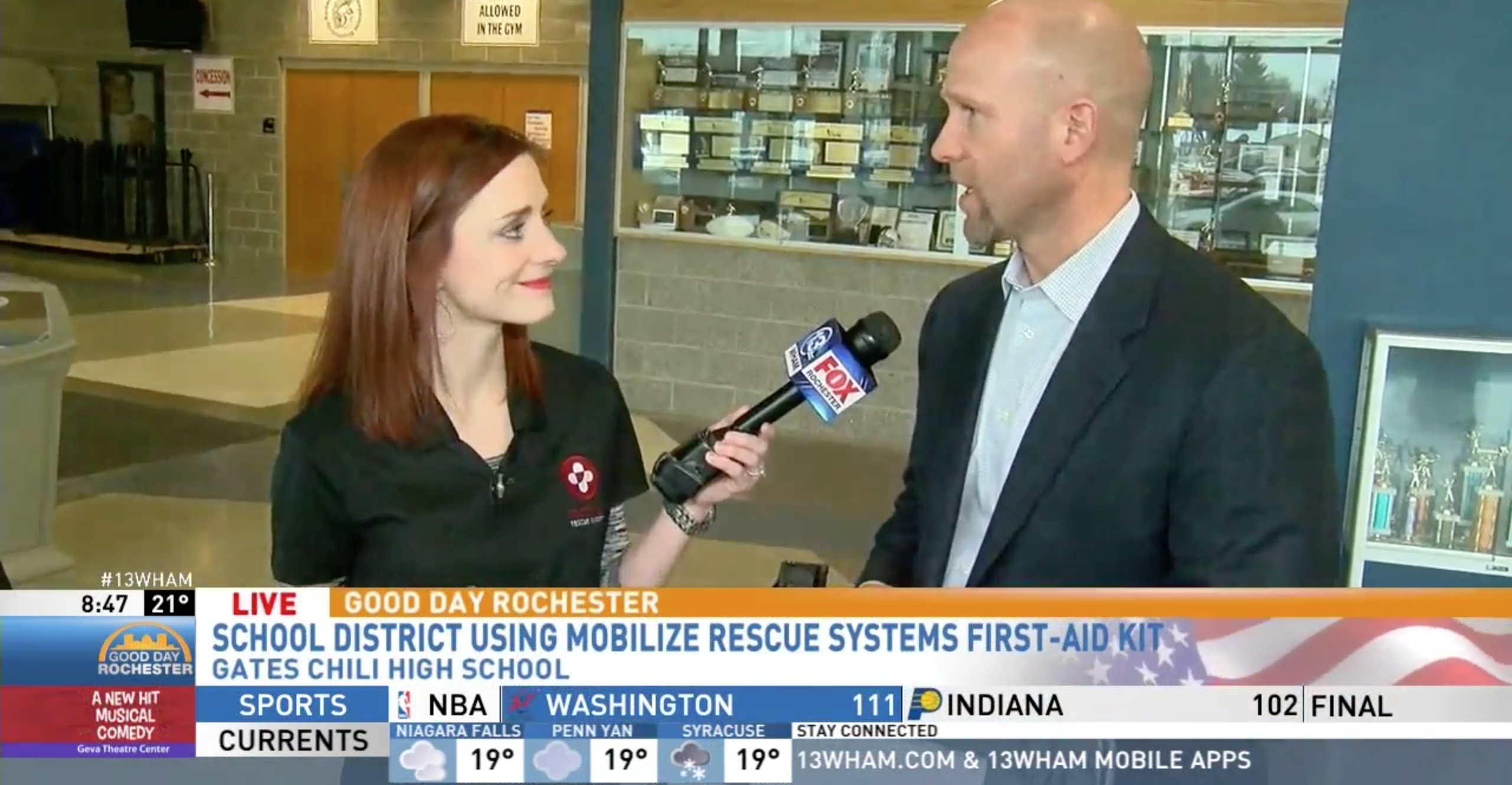 NEWS: FOX Rochester Interviews Mobilize Rescue Systems & Gates Chili CSD about Life-Saving Technology