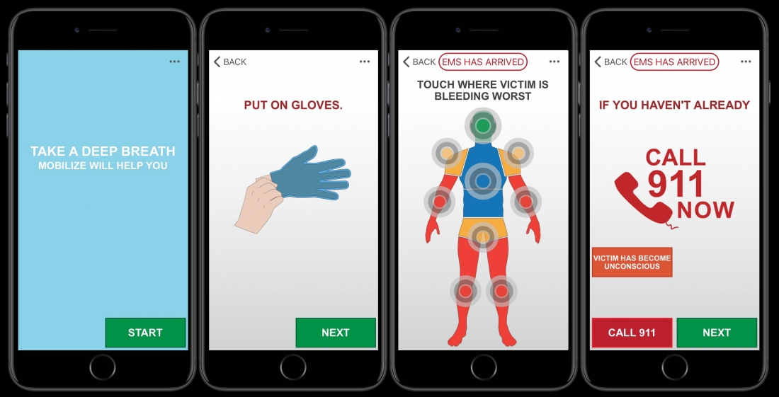 "Stop the Bleeding and Call 911 - The ""Call 911"" Button Housed in the Mobilize Rescue App"